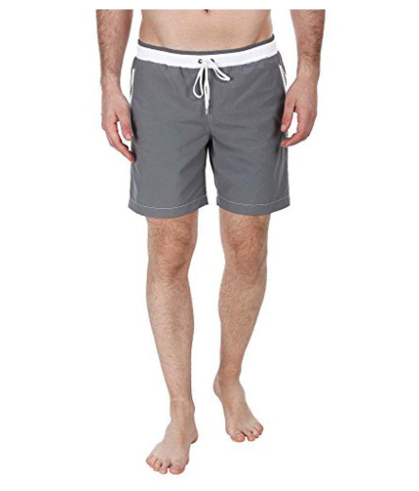 Zobello Men's Contrast Color Waist Band Swim Shorts in Nylon Quick Dry Fabric/ Swimming Costume