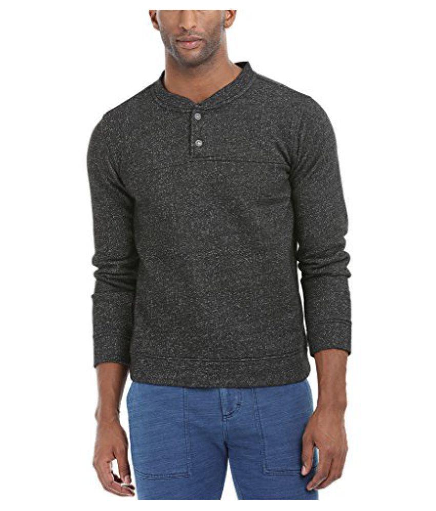 Zobello Mens Casual Henley Sweatshirt