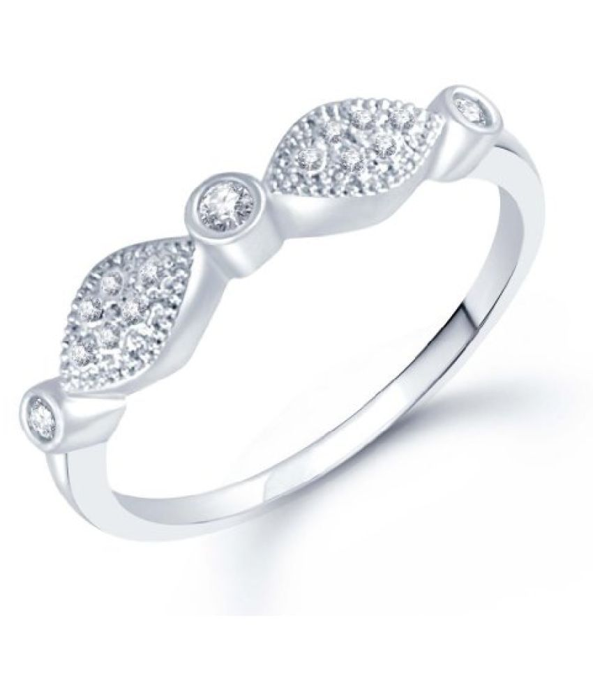 Sukkhi Beguiling Micro Pave Setting Rhodium Plated CZ Ring for Women