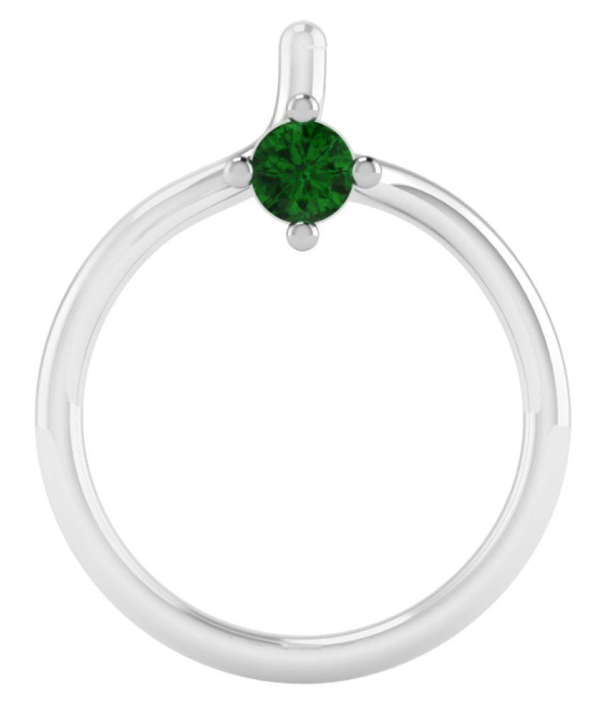 Naginabyiskiuski 14k White Gold Single Diamond Nose Ring Buy