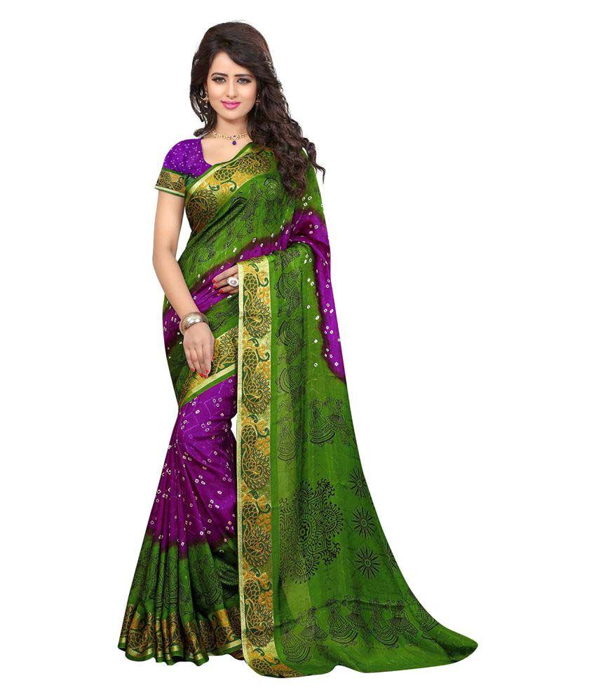 Greenvilla Designs Multicoloured Jacquard Saree