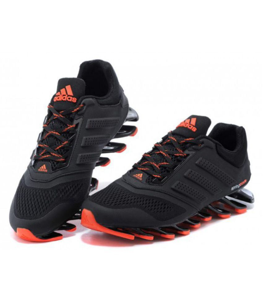 buy online ea2a8 c3ae3 Adidas Springblade Drive M2 Running Shoes Black  Buy Online at Best Price  on Snapdeal