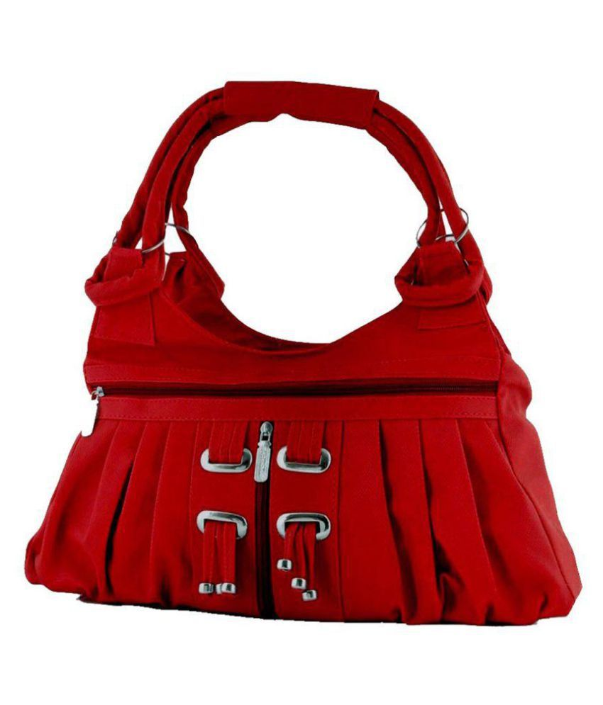 Aania Haute Red Faux Leather Handheld