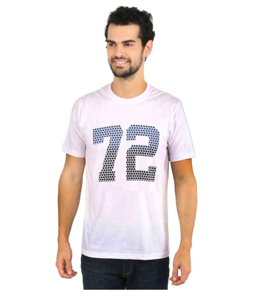 Vector X Printed Men's Round Neck White T-Shirt