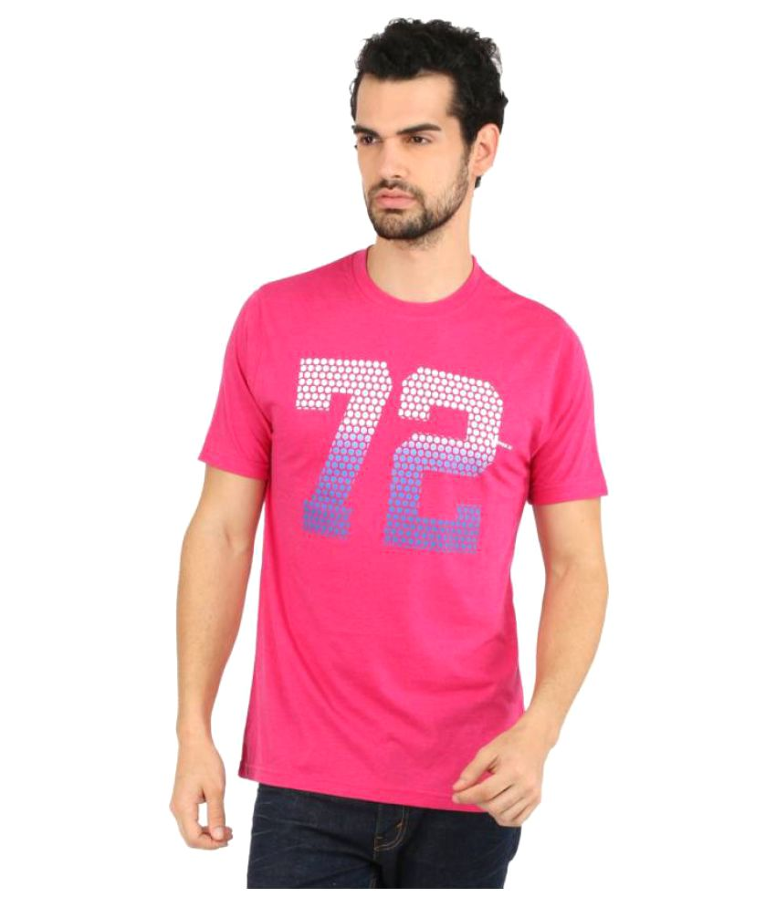 b566d6e3d843 Vector X Printed Men's Round Neck Pink T-Shirt: Buy Online at Best Price on  Snapdeal
