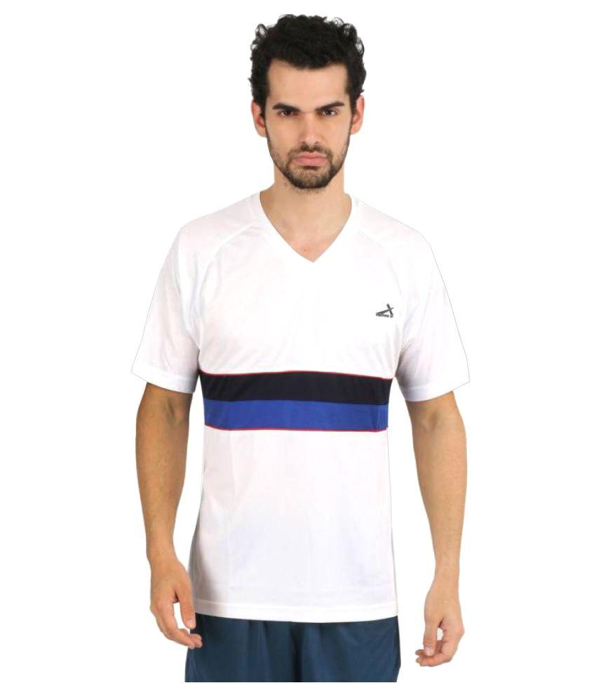 Vector X Printed Men's V-neck White T-Shirt