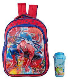 Uxpress Spiderman Orange School Bag With Water Bottle
