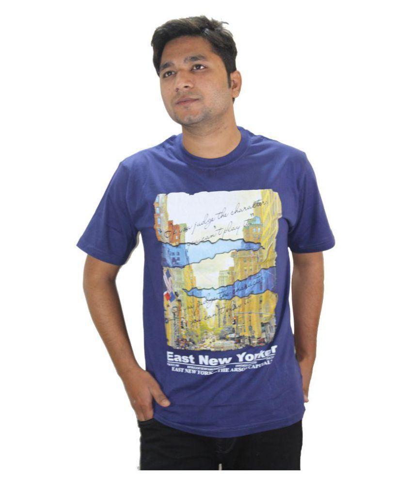Ansari Clotho Blue Round T-Shirt