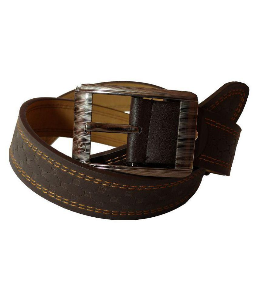 Weartool Brown Faux Leather Casual Belts