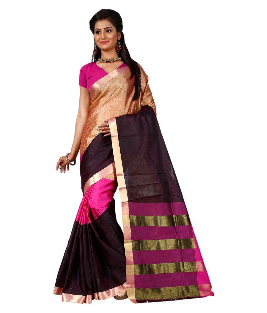 Bikaw Multicoloured Cotton Saree