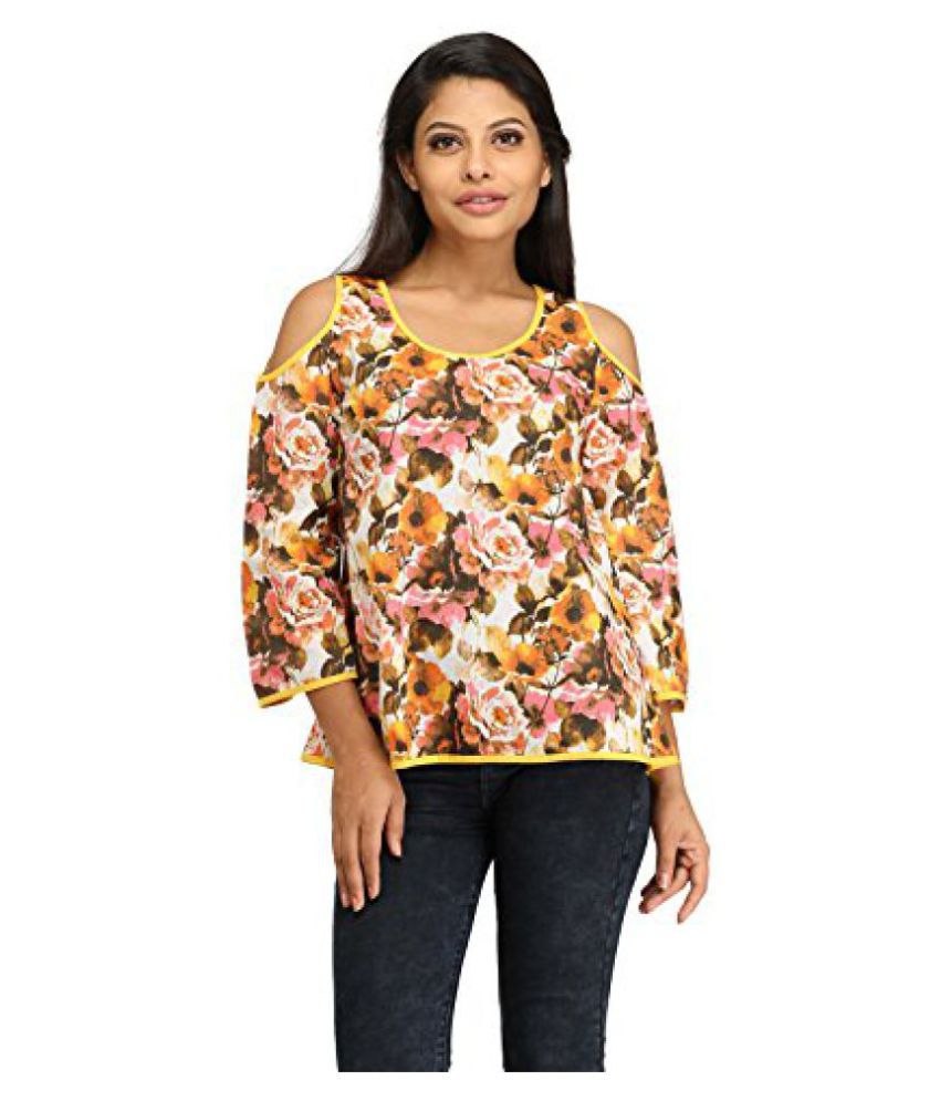 6b20810a9c0883 100% Cotton Cut-Out Cold Shoulder Attractive Tops for Women & Girl's -  Fancy & Stylish ...