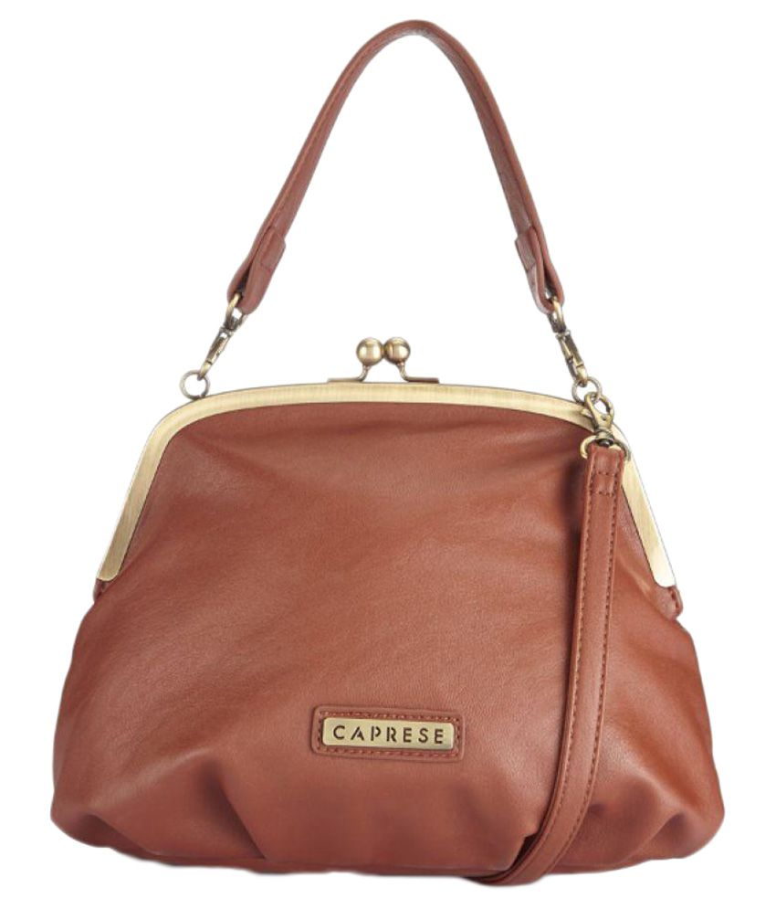 Caprese Brown Faux Leather Shoulder Bag