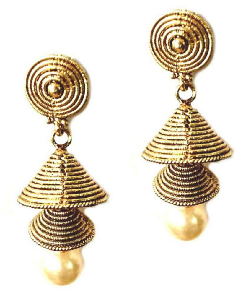 Shrungarika Golden Fashionable Earrings for Women
