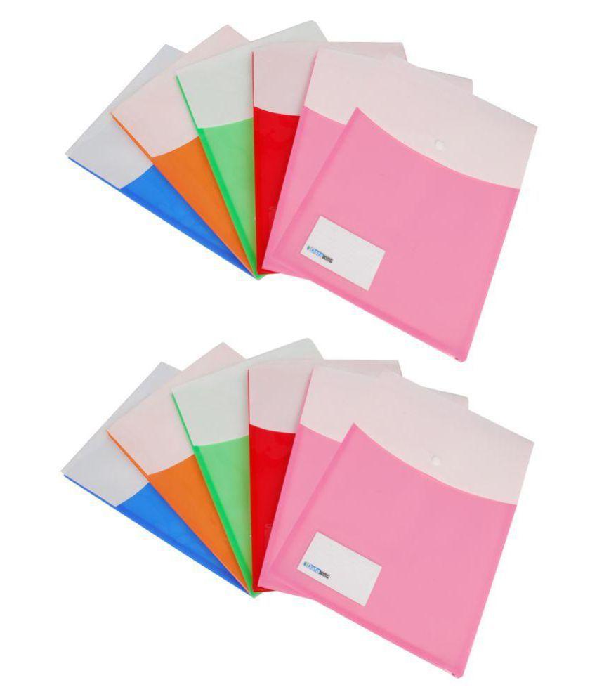 Dataking Multicolour Expandable Document Bag Set Of 12