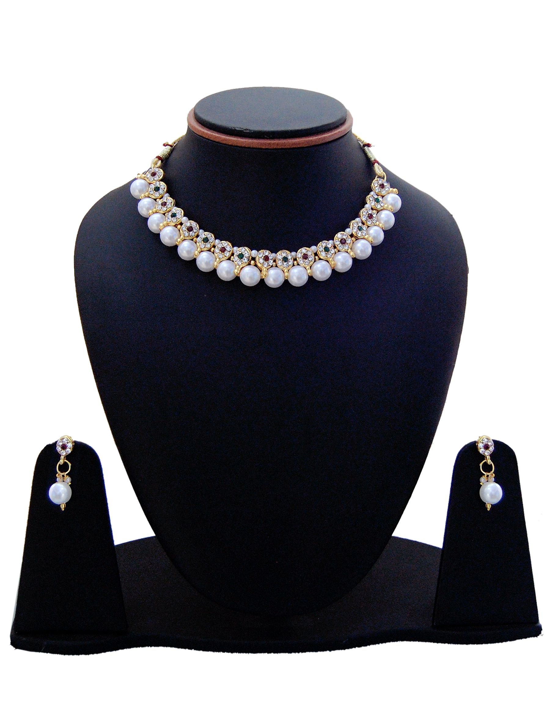 4bebcbdf0d0 Manukunj Pearl Necklace Set - Buy Manukunj Pearl Necklace Set Online at Best  Prices in India on Snapdeal