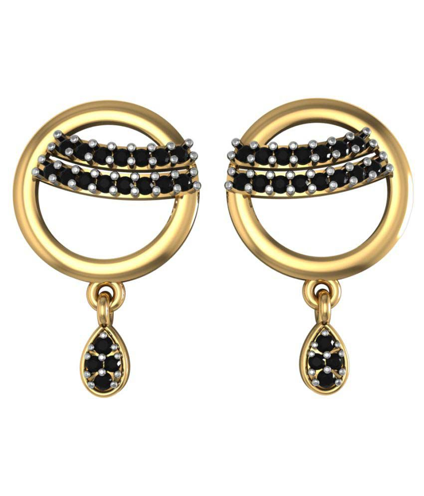 Suvarnadeep 92.5 Silver Swarovski Drop Earrings