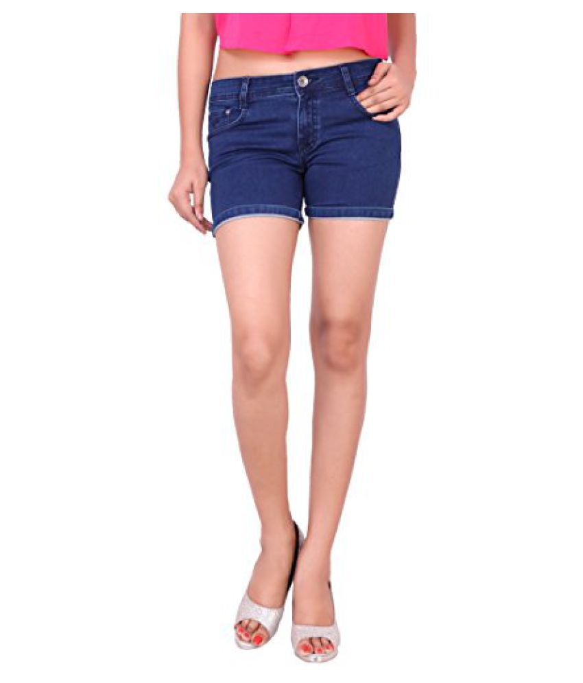 Airways Stretchable Denim Short Pant for Women