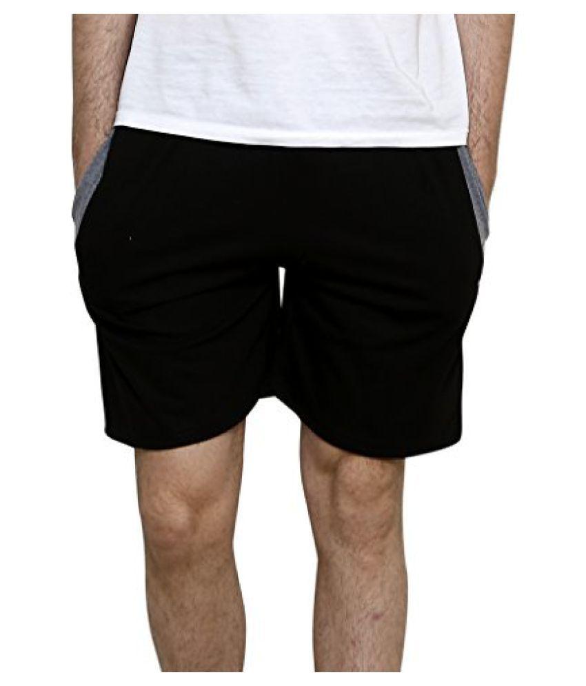 SYDA Black Shorts for Men