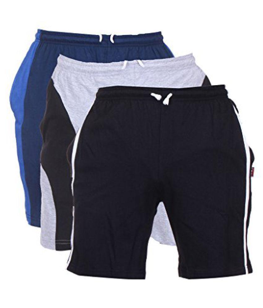 TeesTadka Mens Cotton Shorts Pack of 3