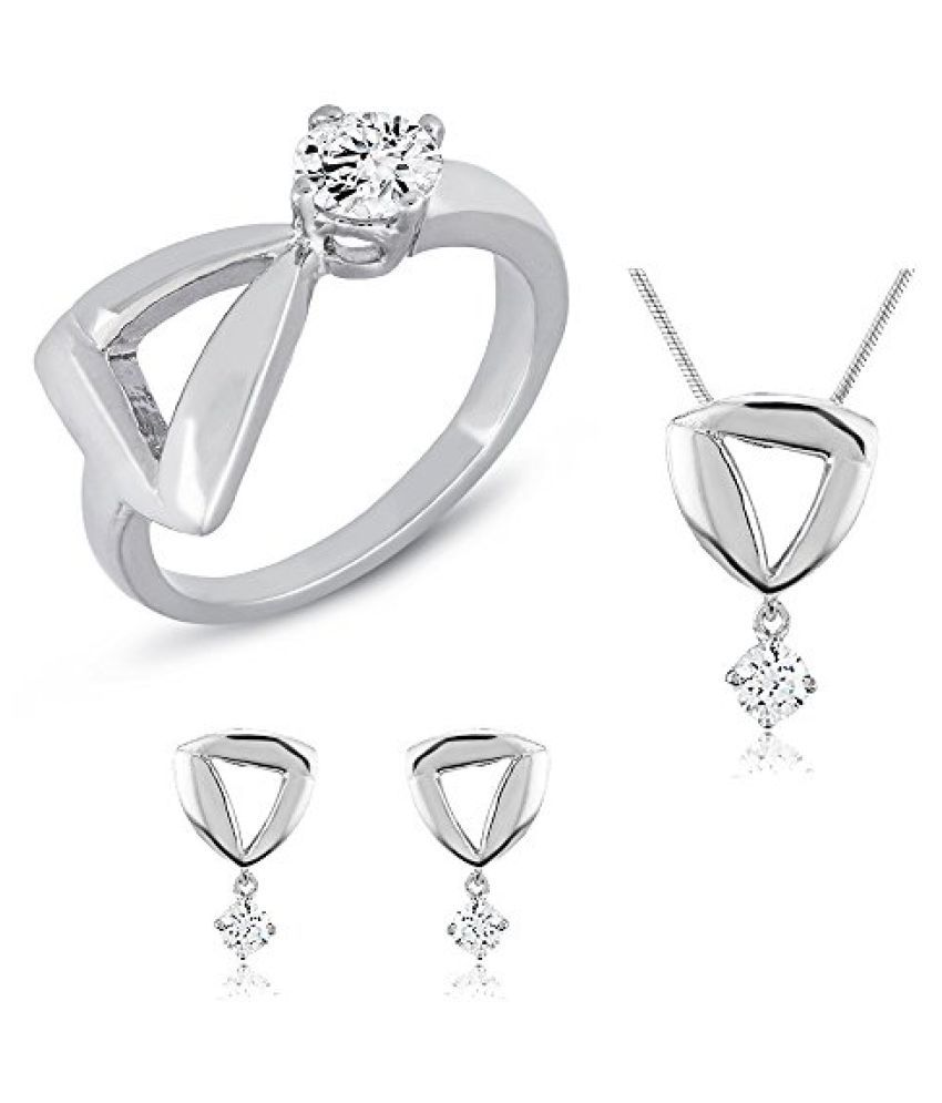Mahi with Swarovski Zirconia Solitaire Fashion Combo Set for Women CO1104316R