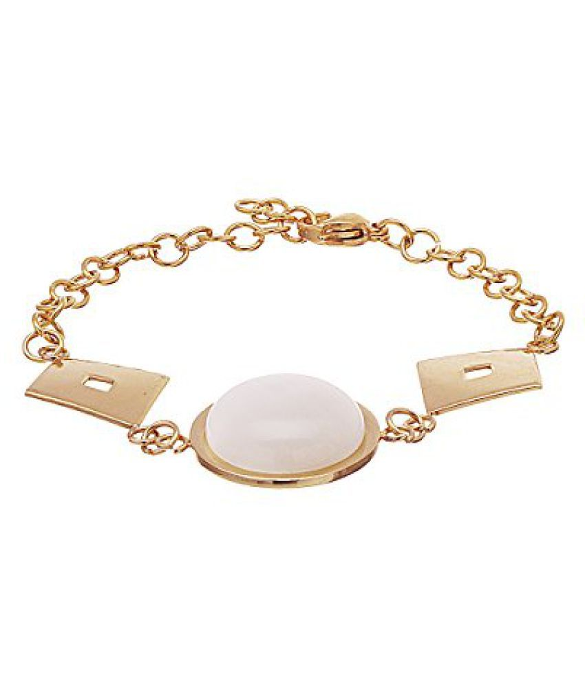 Voylla Geometric Style Link Bracelet With Gold Tone