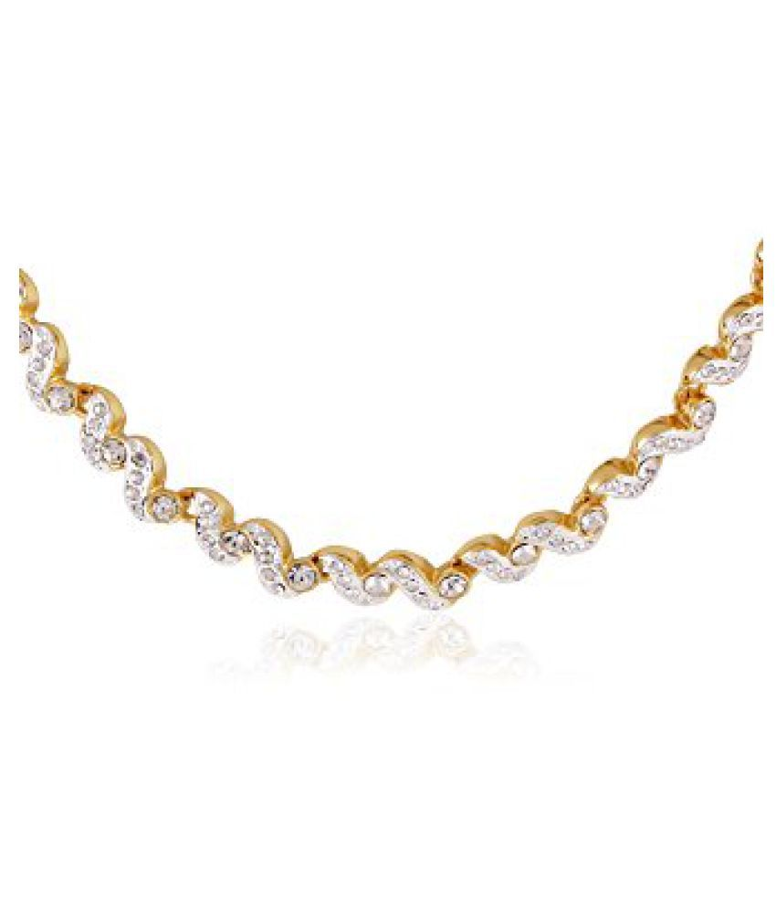 Estelle Gold and Silver Plated Necklace With Crystals (5562)