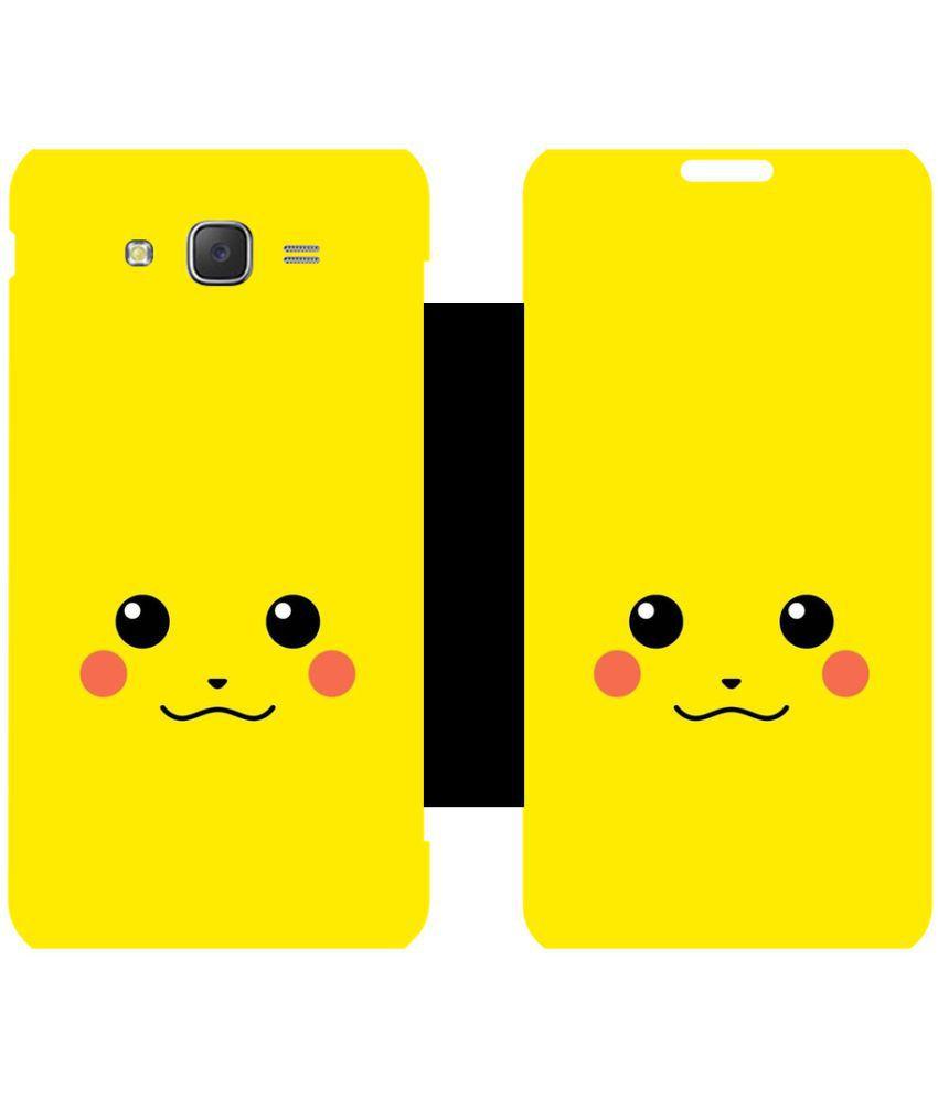 Samsung Galaxy J5 Flip Cover by Skintice - Yellow