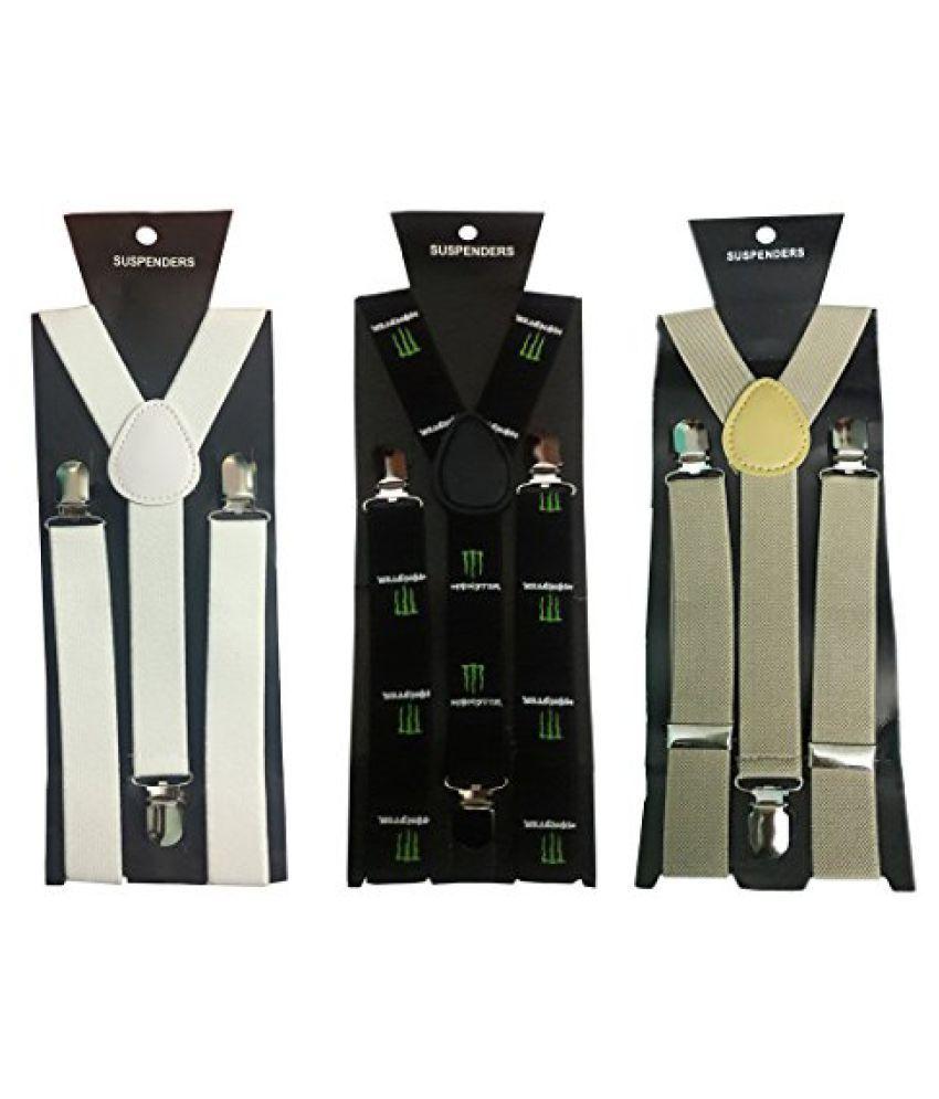 Atyourdoor Y- Back Suspenders for Men(White, Monster Design & Light Brown Color)