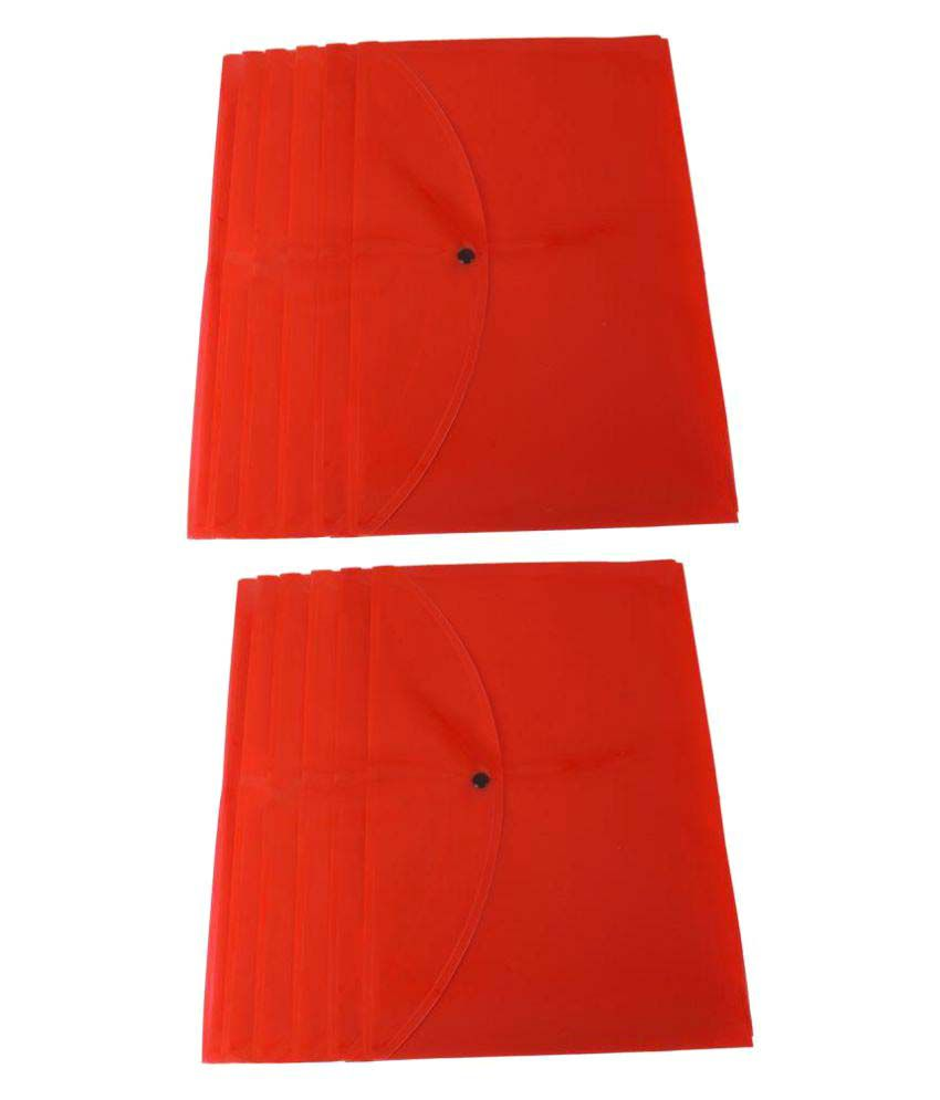DataKing Red Document Bag Set Of 12