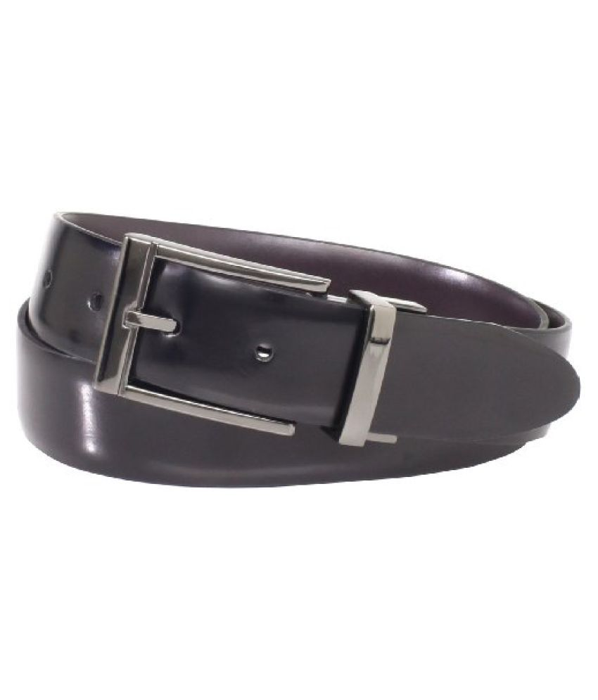 Geoffrey Beene Men's Brush Accents Buckle Belt, Black/Brown, 42