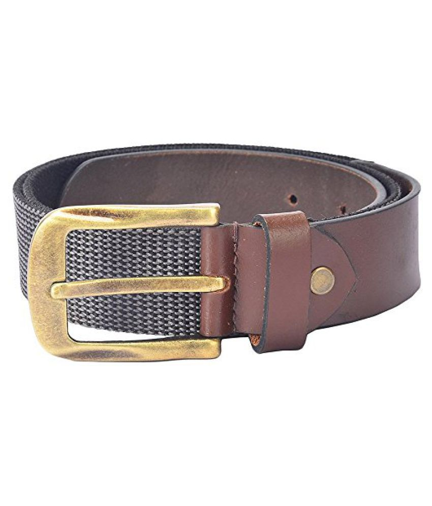 Hidelink Unisex Leather Belt (SP8085, Black, 32)