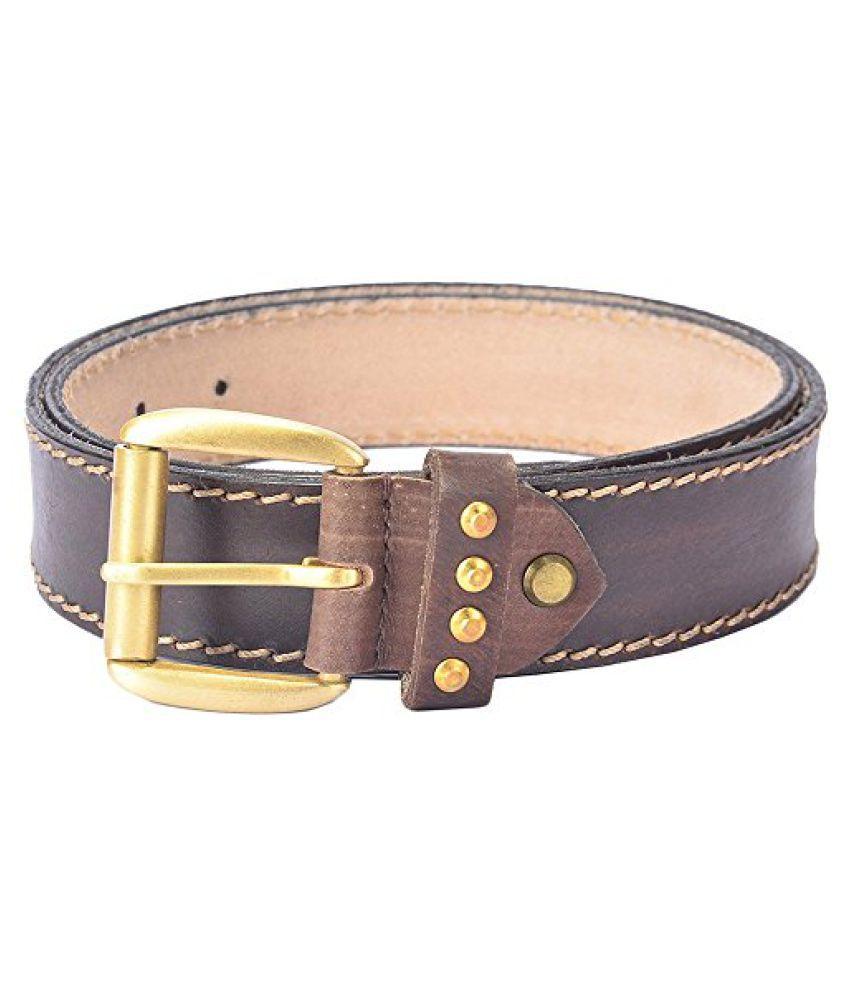 Hidelink Unisex Leather Belt (SP8087, Black, 32)