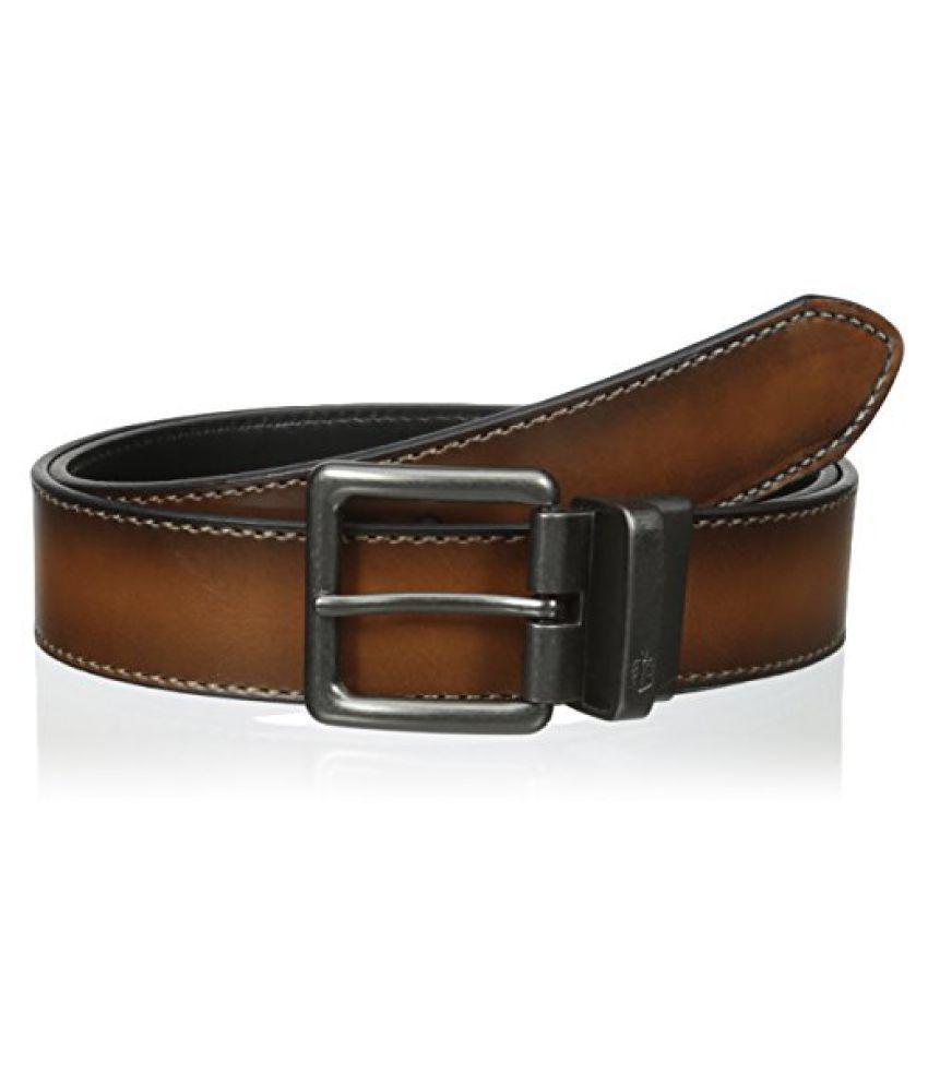 Nautica Black Leather Casual Belts