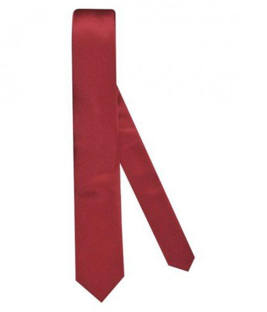 Tiekart Mens Synthetic Tie -Maroon - Skp29 (Skp29_Maroon)