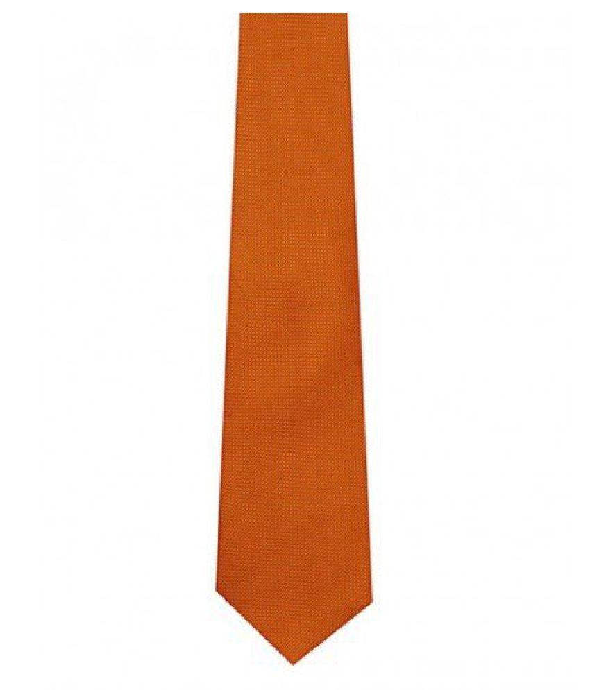 Tiekart Mens Synthetic Tie -Orange -Free Size (M330_Orange)