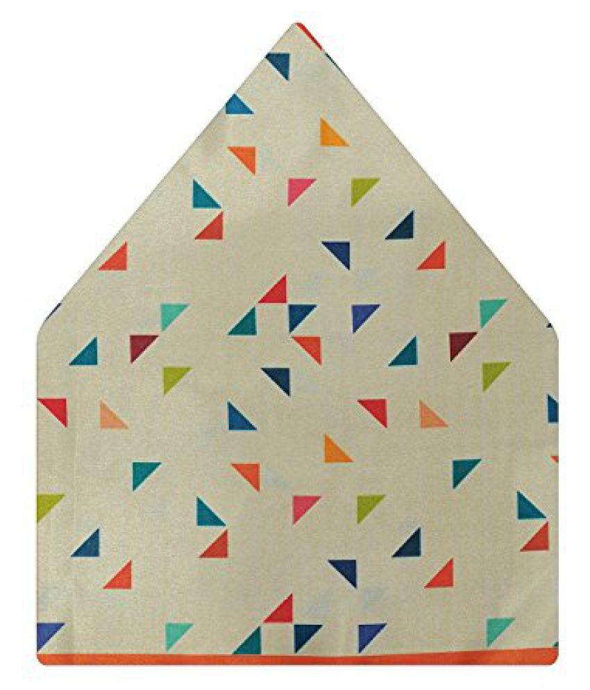 Tiekart Self Design Polyester Pocket Square (Ps523_Multi-Coloured)