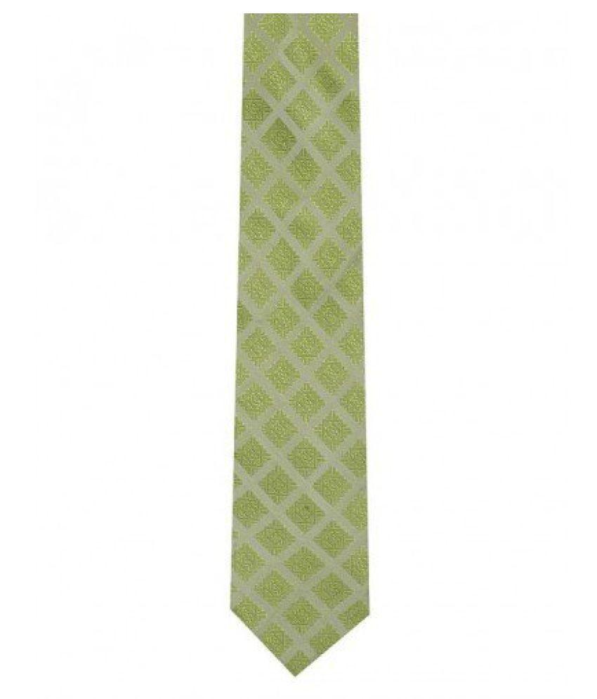 Tiekart Smart Green Checkered Tie (Ws106_Green)