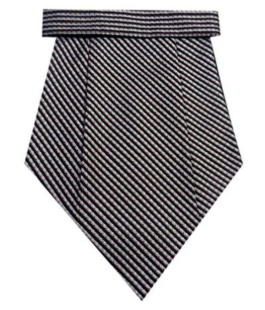 Navaksha Gray Micro Fiber Lines Design Cravat