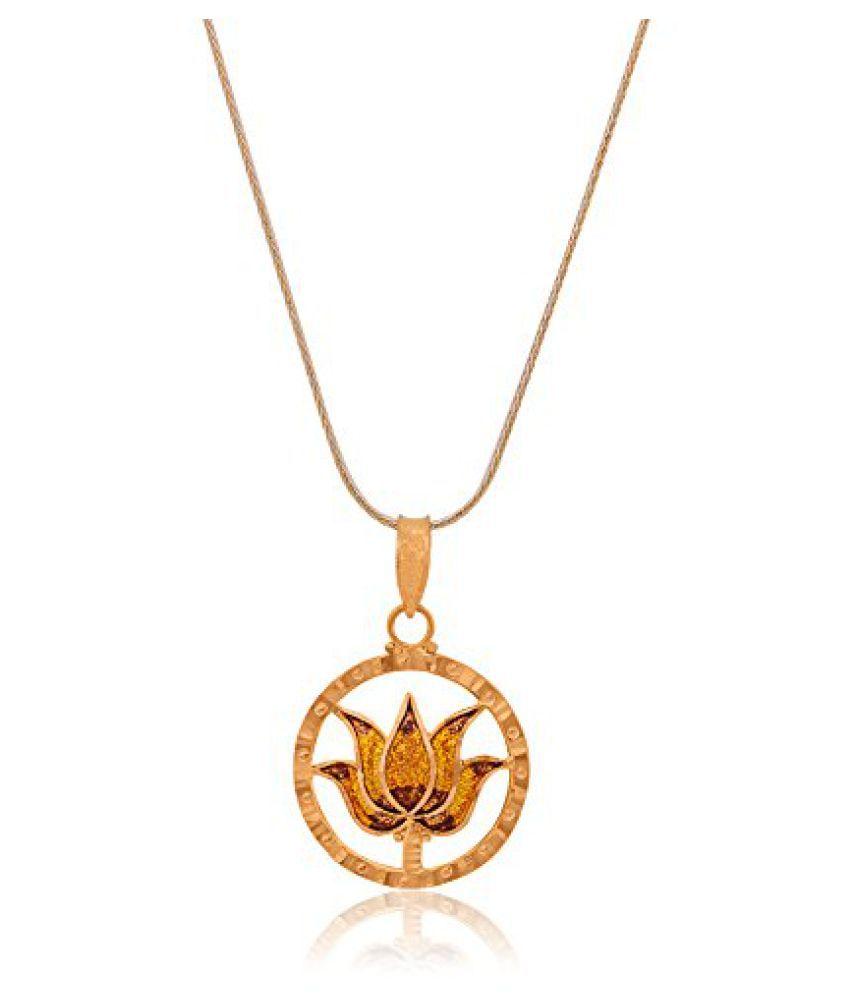 Senco Gold Aura Collection 22k Yellow Gold Pendant: Buy Senco Gold ...