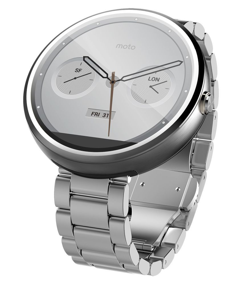 Wearable Smartwatches Online At: Motorola Mobility Moto 360-Natural Metal Smart Watches