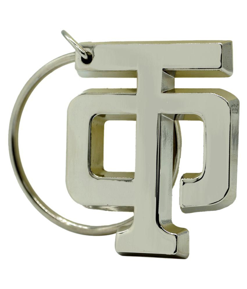 Archies Hindi Alphabet Design Silver Chrome Plating Metal