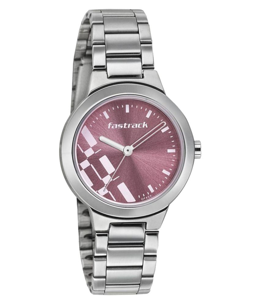 f90345ca8 Fastrack Analogue Pink Dial Watch for Women - 6150SM04 Price in India  Buy  Fastrack Analogue Pink Dial Watch for Women - 6150SM04 Online at Snapdeal