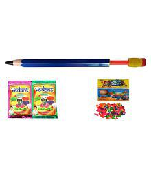 Darling Toys Holi Water Gun Pichkari Pipe With 2 Herbal Gulal And Water Balloon