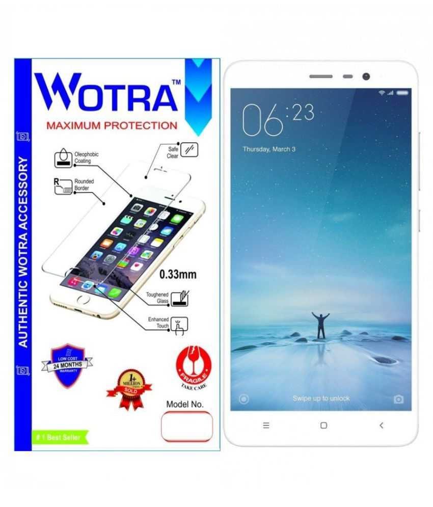 OnePlus 3 Tempered Glass Screen Guard By Wotra
