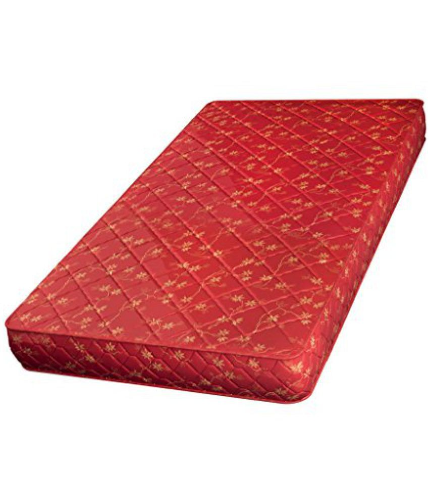 sleepwell executive pocket 6 inch king size coir mattress maroon