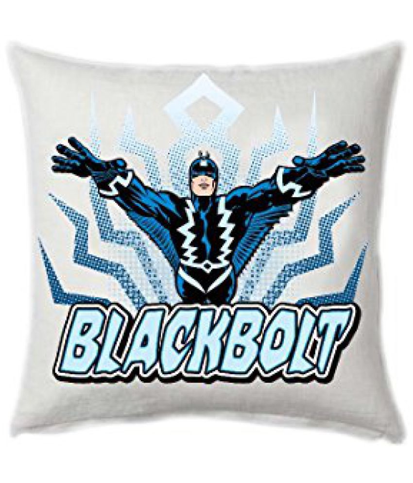 Marvel Blackbolt Fly Square Stretch Polyester Cushion Cover - 16