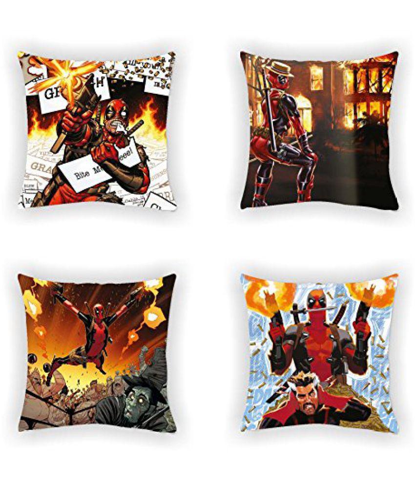 Marvel Deadpool 4 Piece Polyester Cushion Cover Set - 16