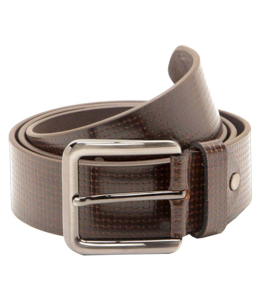 Ants Brown Leather Casual Belts