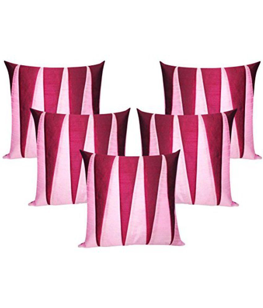 Zig Zag Patch Pink & Fushia 30X30 Cms(5 Pcs Set)