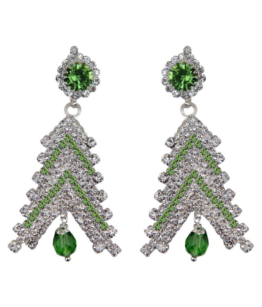 Taj Pearl Casual Wear Hanging Earrings
